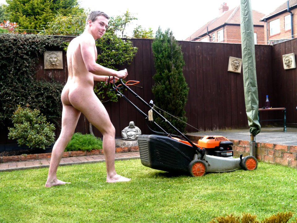 Mowing The Lawn Naked