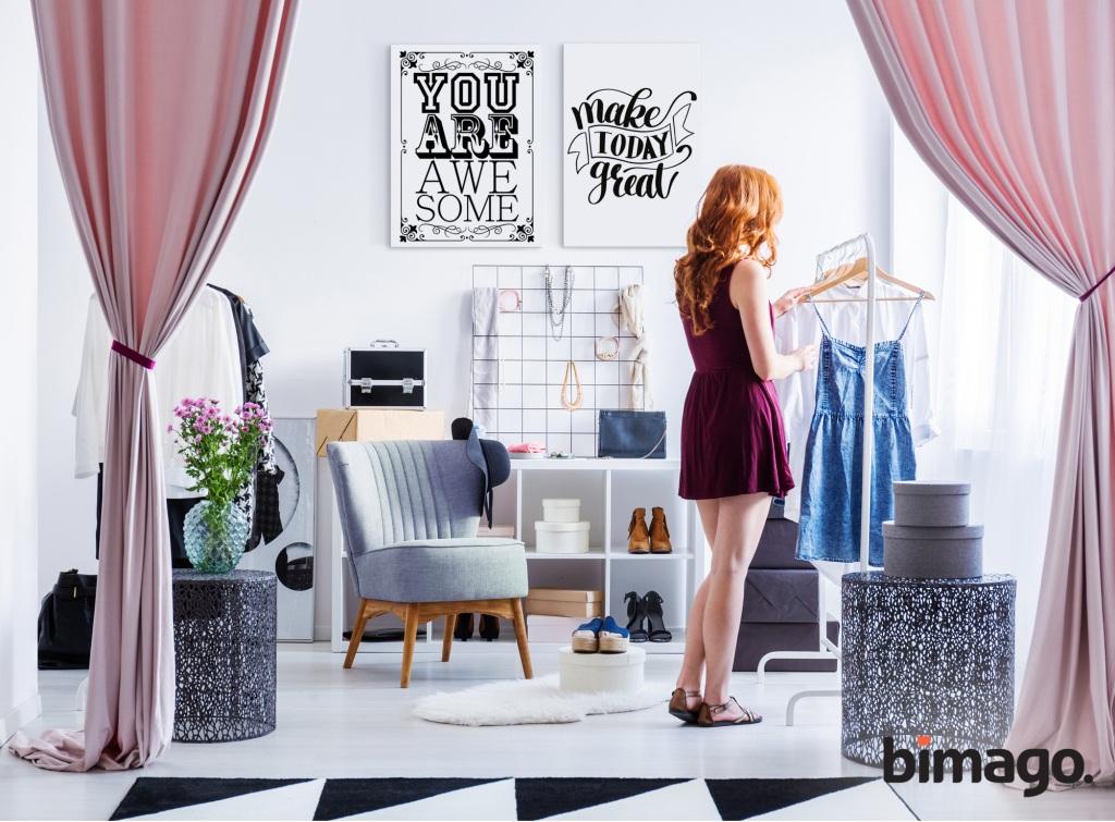 jak urządzić garderobę w sypialni