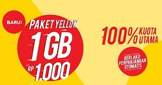 Cara cek kuota Paket internet Yellow Indosat