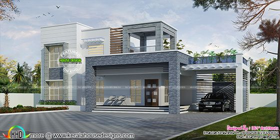 2743 sq-ft box type contemporary home