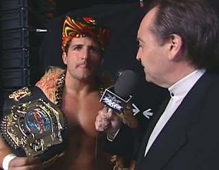 WCW Mayhem 1999 - Mike Tenay interviews Cruiserweight Champion Disco Inferno