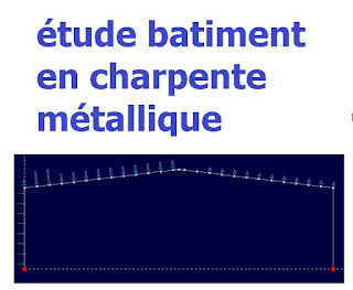projet de fin d'éude en charpente métallique;  étude d'un batiment en charpente métallique.