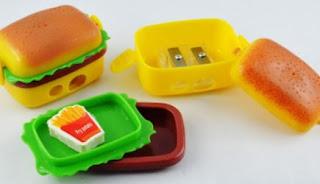 Burger Style Sharpener & Eraser