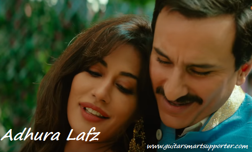 Adhura Lafz Guitar Chords with Lyrics Baazaar | Rahat Fateh Ali Khan