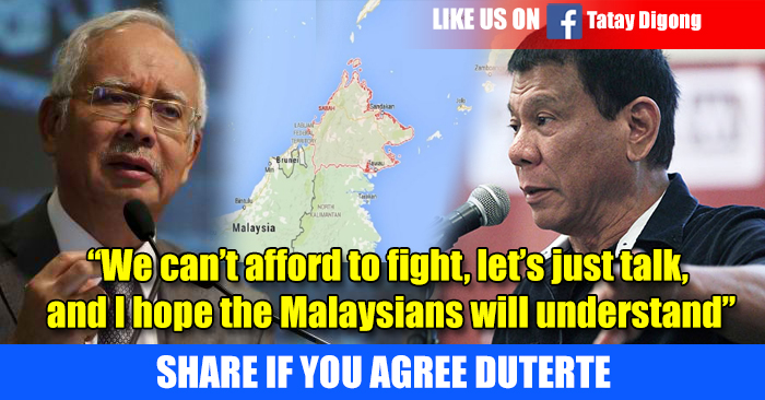 BREAKING NEWS: Duterte VS Malaysian Prime Minister To Defend Sabbah