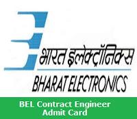 BEL Contract Engineer Admit Card 2017