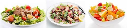Ensaladas de verduras y proteínas para comer antes de hacer deporte