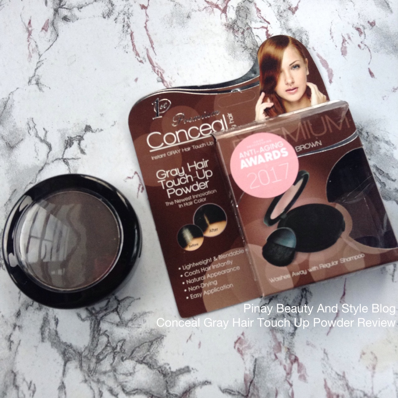 Pinay Beauty And Style Conceal Touch Up Powder Review For Receding