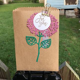 hydrangea gift bag