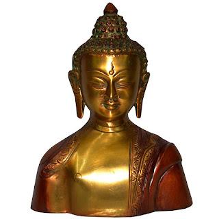 DronaCraft Brass Lord Buddha Home Decor Sculpture