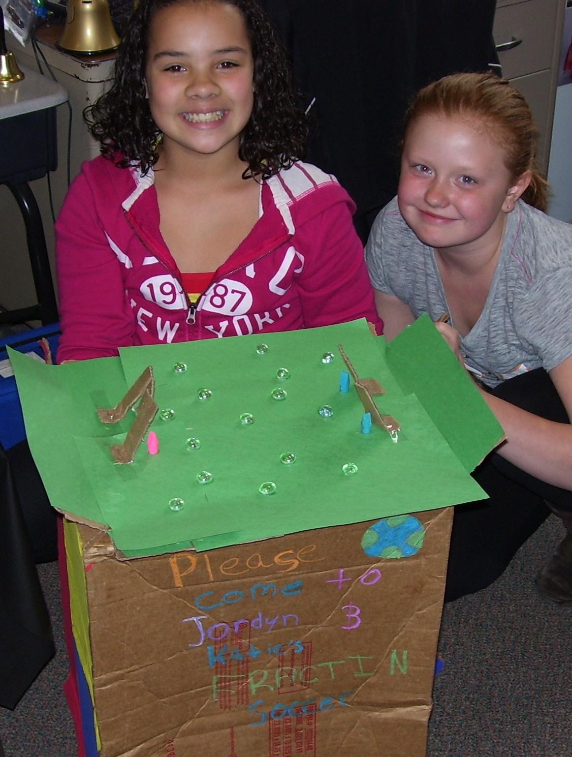 Elementary School Garden: Cardboard Math Arcade