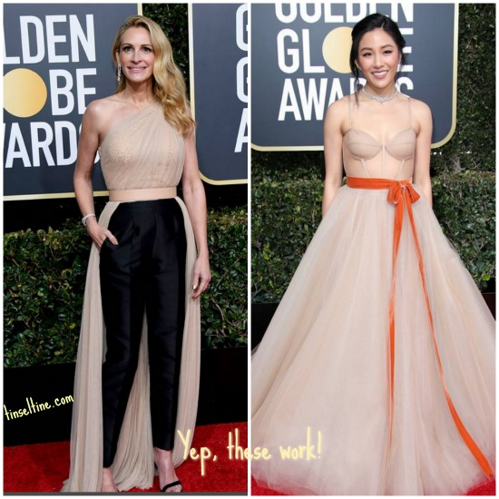 Golden Globe Red Carpet Runners Up Tinsel & Tine