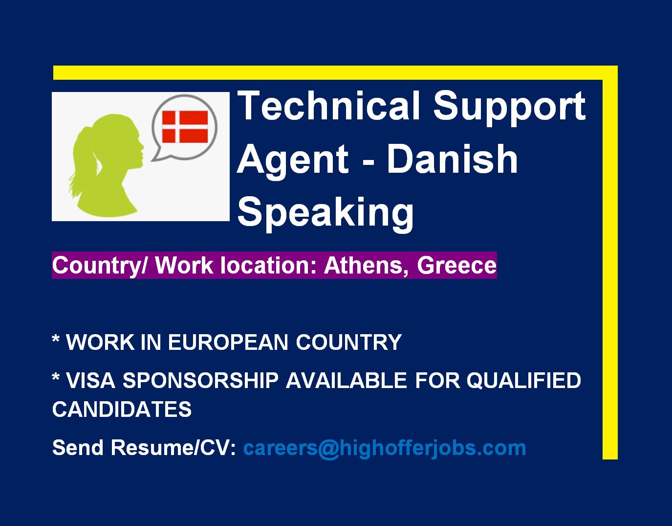 Danish Speaking Technical Support