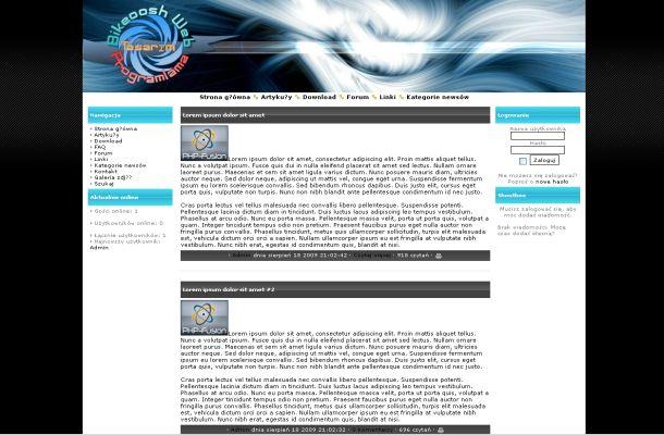 ... Business Free Php-fusion Style Theme - Free Joomla Themes Templates