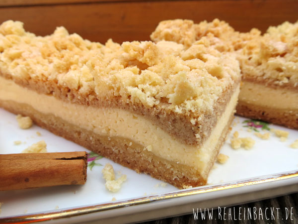 Snickerdoodle Cheesecake Bars | Zimtzucker-Käsekuchen mit Streuseln | Foodblog rehlein backt