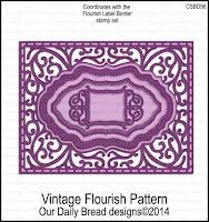 ODBD Custom Vintage Flourish Pattern Dies