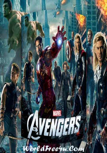 Poster Of The Avengers In Dual Audio Hindi English 300MB Compressed Small Size Pc Movie Free Download Only At worldfree4u.com
