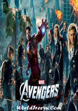 Poster Of Free Download The Avengers 2012 300MB Full Movie Hindi Dubbed 720P Bluray HD HEVC Small Size Pc Movie Only At worldfree4u.com