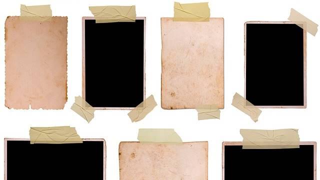 Quadros de papel com fita adesiva