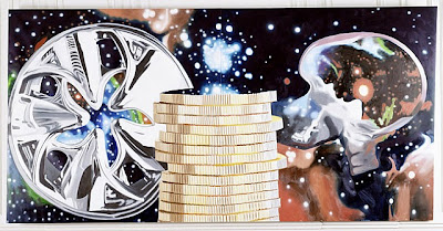 James Rosenquist's The Richest Person Gazing at the Universe Through a Hubcap, 2011