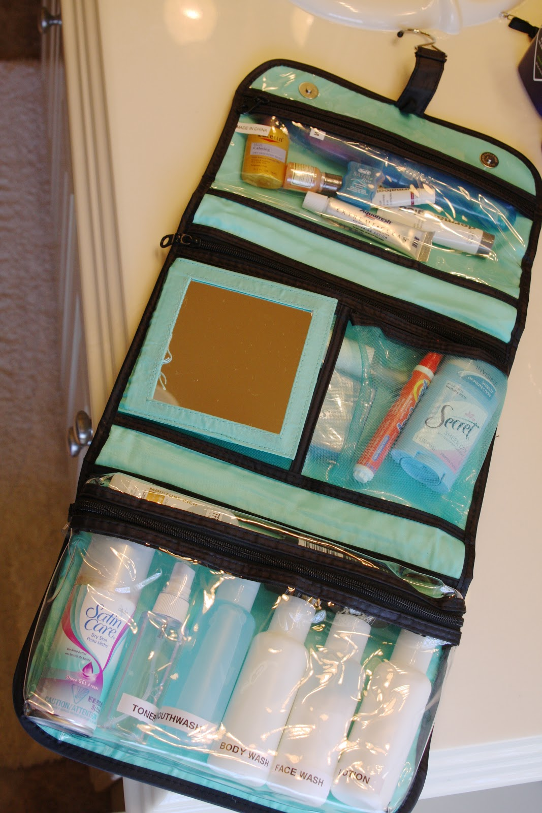 Organized Travel Toiletry Bags