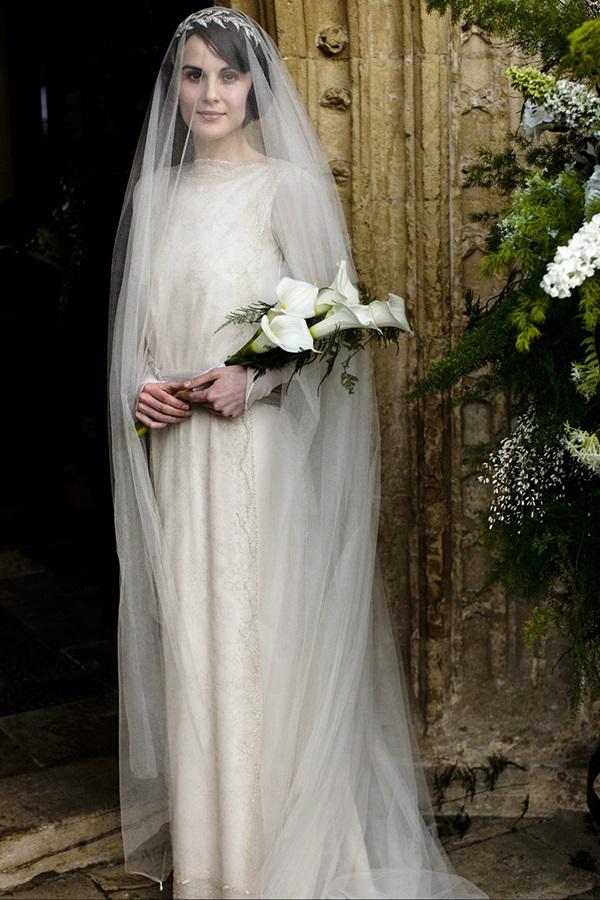 los vestidos de novia de downton abbey - entre tul y margaritas