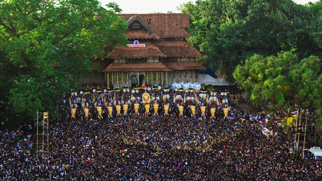 thrissur pooram seen from the air