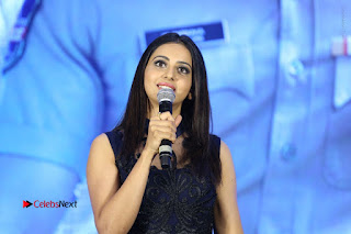 Actress Rakul Preet Singh Stills in Beautiful Blue Long Dress at Dhruva Salute to Audience Event  0132.JPG