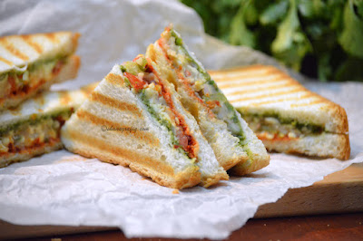 Bombay Style Grilled Vegetable Sandwich