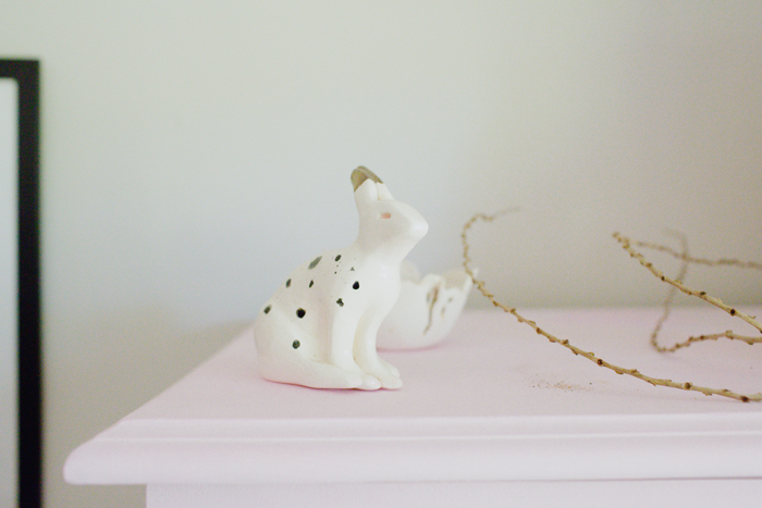 ceramic bunny sculpture