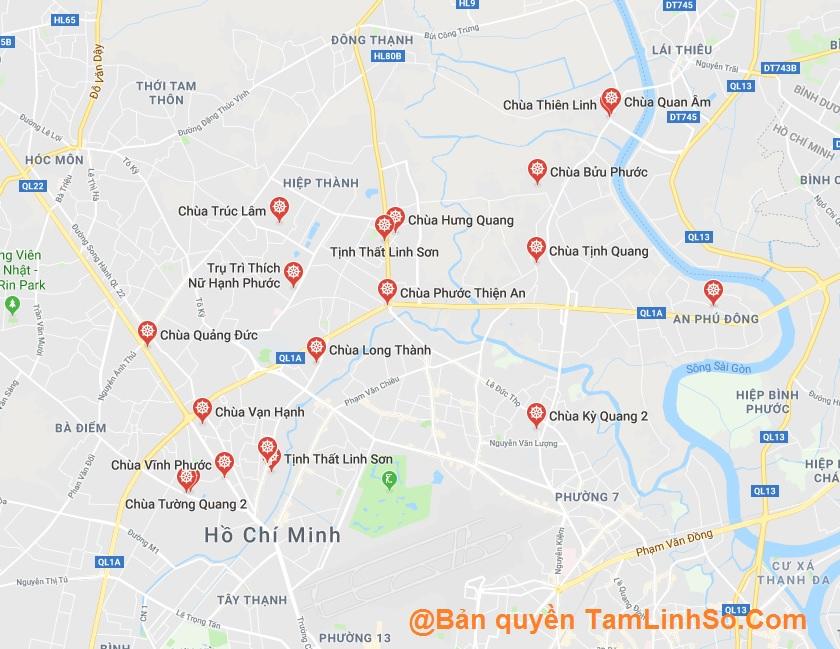 Quận 12 là quận có nhiều chùa hàng đầu tại Sài Gòn