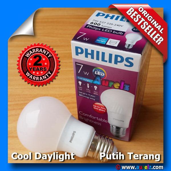 lampu led philips 7 watt cool daylight