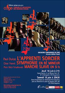 Concert de l'orchestre symphonique du COGE