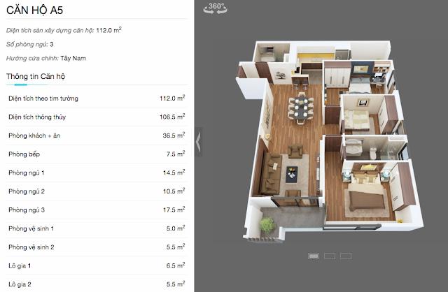 Thiết kế căn hộ A5 chung cư The Legend