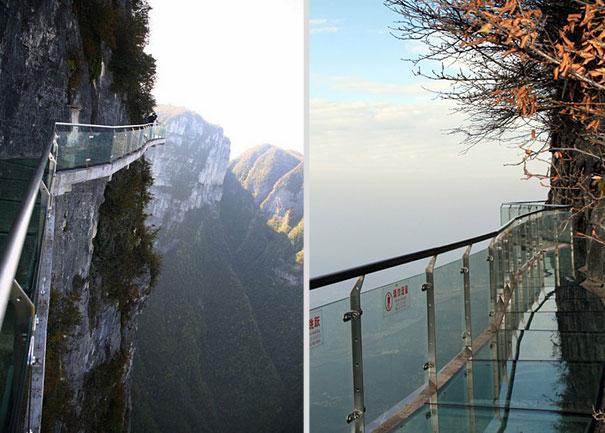 The Walk Of Faith A Glass Sidewalk On A Mountain Cliff