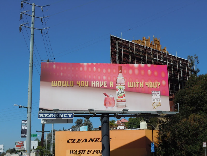 Stoli Raspberry Vodka billboard