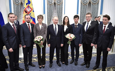 Vladimir Putin, young scientists, 2016.