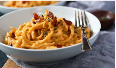 Rich Butternut Squash Alfredo Pasta #pasta #food