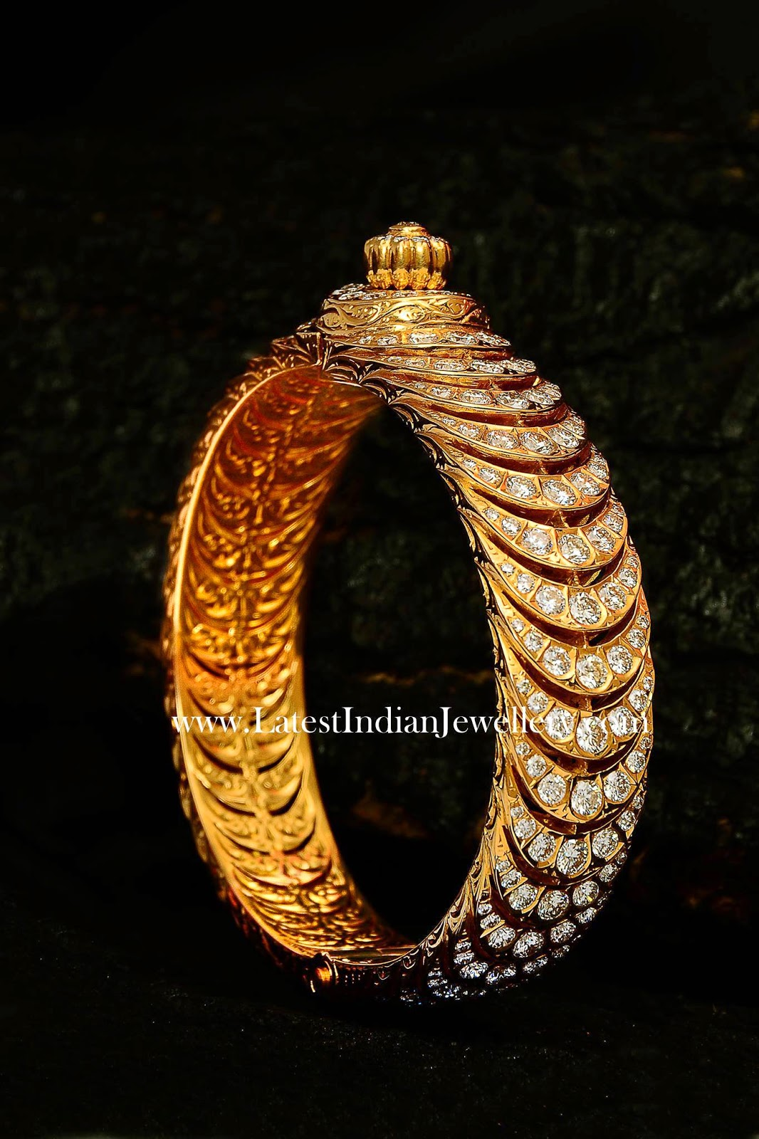 Spectacular Diamond Bangle Kada Latest Indian Jewellery