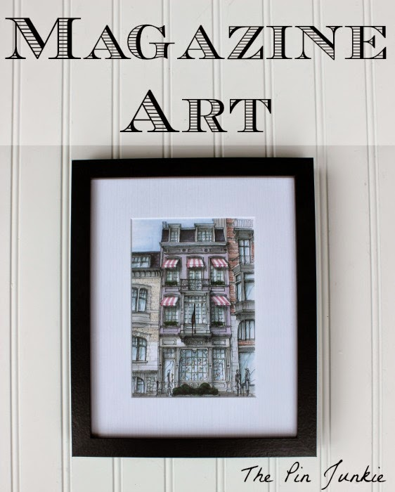 Framed Magazine Art