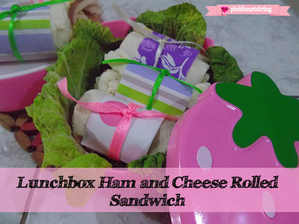 Lunchbox Ham and Cheese Rolled Sandwich
