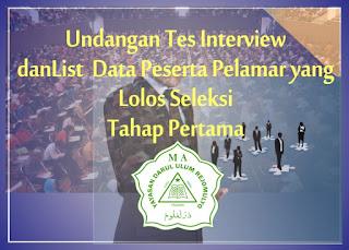 Pengumuman Peserta Seleksi Administrasi dan Undangan Seleksi Tahap Berikutnya Calon Tenaga Pendidik MA Darul Ulum