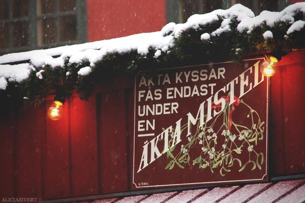 aliciasivert, Alicia Sivertsson, jul, christmas, x-mas, Gamla Stans julmarknad, Stortorget, äkta kyssar fås endast under en äkta mistel