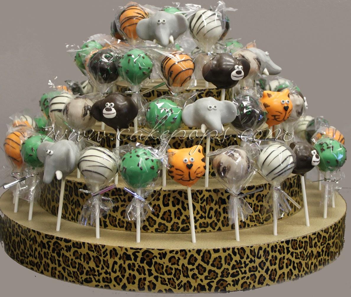 Giraffe Baby Shower Cake Pops
