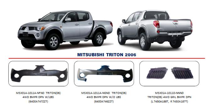 Bemper Mitsubishi Triton 2006-2008