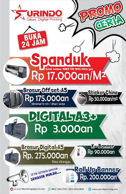 Print Spanduk 24 Jam Harga 13.500 Rawamangun Jakarta Timur