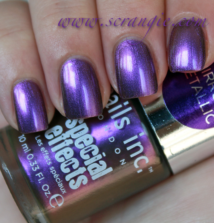 Scrangie New Nails Inc Special Effects Mirror Metallic Collection Swatches And Review