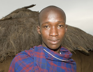 Maasai teen posing for a selfie