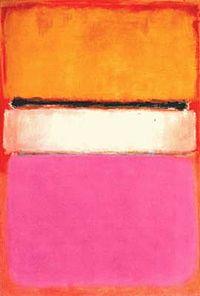 """""""White Center (Yellow, Pink dan Lavender on Rose)"""", Mark Rothko"""