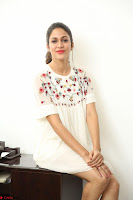 Lavanya Tripathi in Summer Style Spicy Short White Dress at her Interview  Exclusive 124.JPG